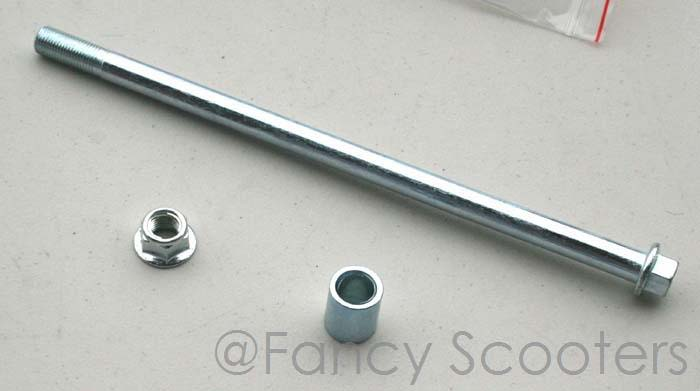 Dirt Bike Rear Wheel Axle with Spacer and Lock Nut M12 x 250mm