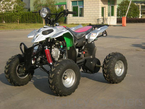 Peace Mini Silver Sporty ATV (110cc Wider and Taller than ATV507S) with Front Hand/Rear Foot Brake