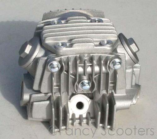 110cc Complete Cylinder Head C with Valves Setup for 4 Stroke Horizontal Engine