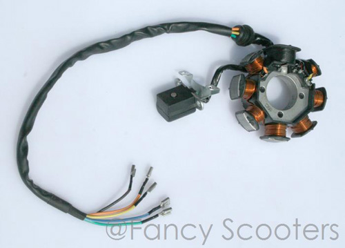 Stator K ( 8 coils, 5 wires) for 250cc ATV