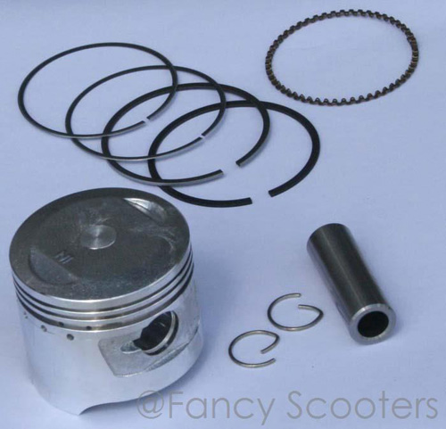 110cc 4-stroke Piston with Ring, Pin and G-ring (D=52 mm, Height=37mm,Pin Dia=13mm)
