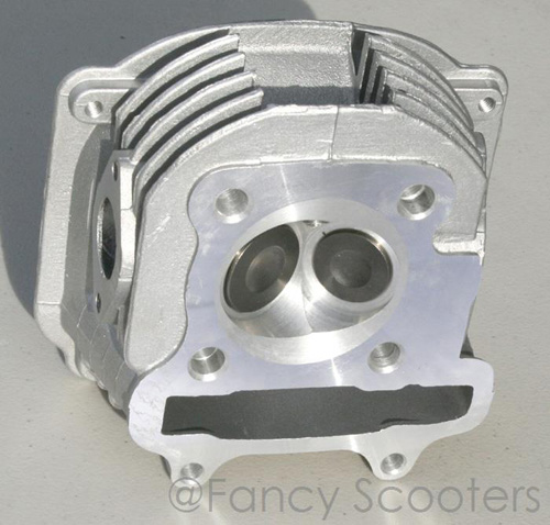 150cc GY6 Engine Cylinder Head with Valve Set-up (Non-EGR)