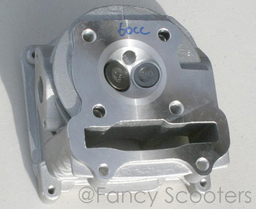 60cc GY6 Engine Cylinder Head with Valve Set-up