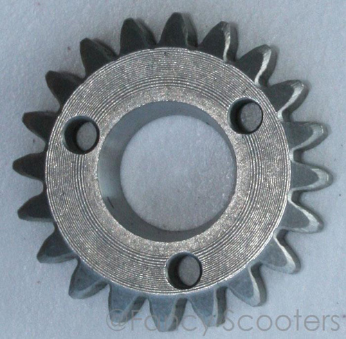 150cc GY6 Starter Gear (20 teeth, OD=45mm, Tapered Bore 16.6-19.6 mm Thickness=9.85mm)