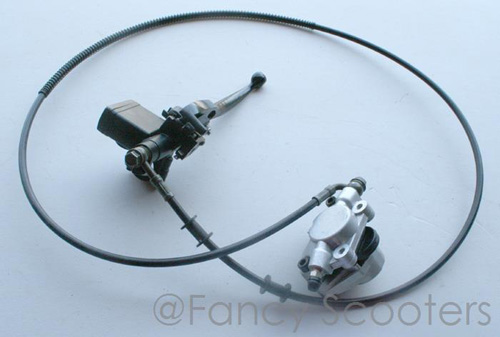 "Hydraulic Brake Assembly B for ATV125-CD-7 (Hose L=62"")"