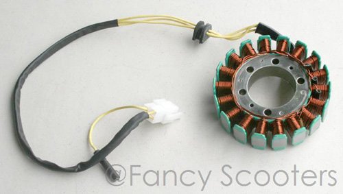 18 Coils Stator with 4  Wires for CF250 Motor (Center Dia 42mm, Mounting Hole 53mm)